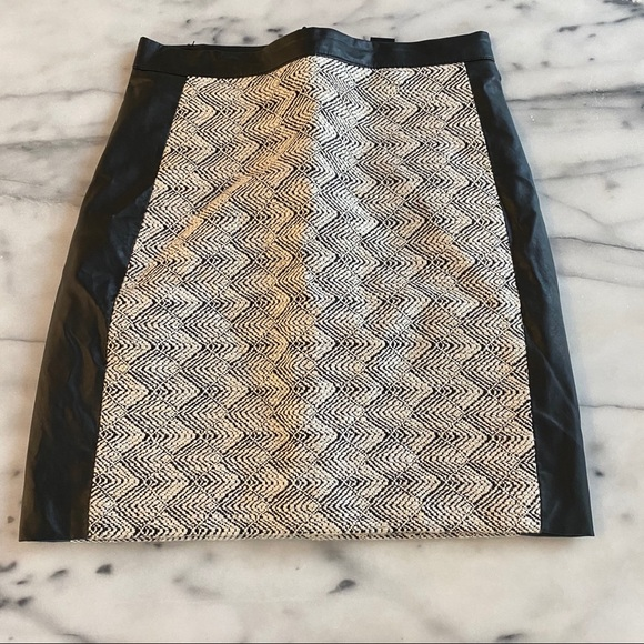 H&M Dresses & Skirts - Leather and texture skirt